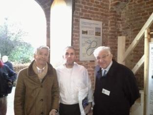 De minister in de Oude Toren met Rudy van Haren (midden) en Theo Verheyen (rechts)