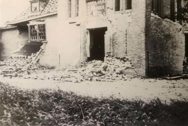 Kerk beschadigd 1940