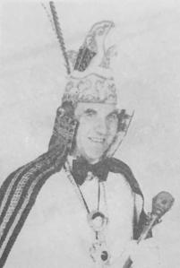 Theo Verheijen prins carnaval 1975 zw
